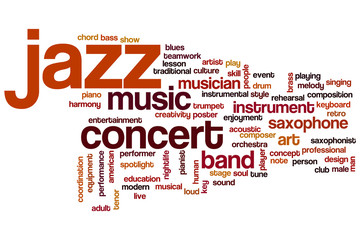 Jazz word cloud