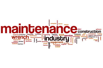 Maintenance word cloud