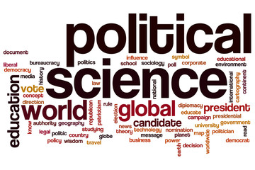 Political science word cloud