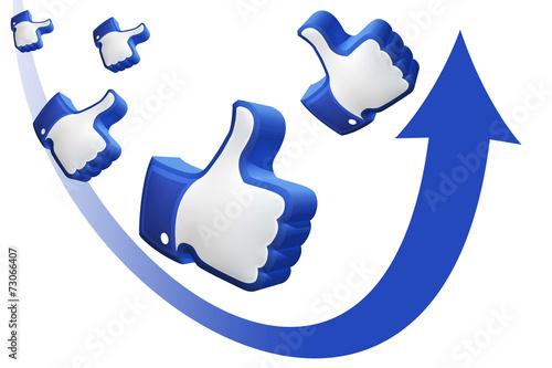 Zdjęcia na płótnie, fototapety, obrazy : Social Media Marketing - Thumb up!