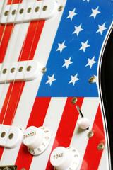 electric guitar American flag details 2