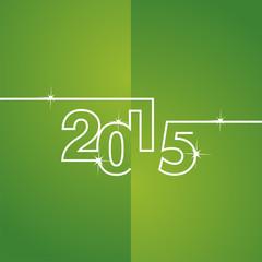 White line 2015 green background vector