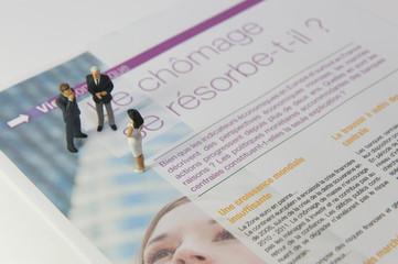 Bilan sur le chômage dans un magazine : entretien d'embauche