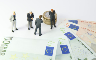 Répartition de l'argent : billets de 100 euros
