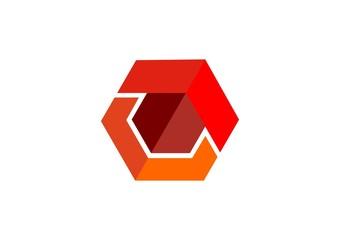 arrow,cube,hexagon,logo,square,geometry,initial c,construction
