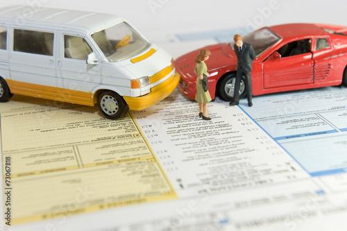 Constat à l'amiable : assurance voiture Poster