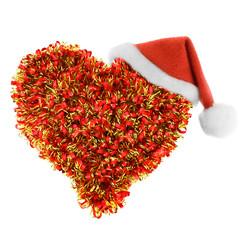 Santa hat in heart