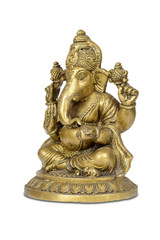 Figurine of Hindu god Ganesha isolated with clipping path.