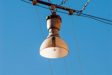 Lampione singolo, lanterna, illuminazione pubblica