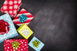 Christmas presents with chalk board - 73069086