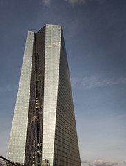 The new building of the European Central Bank Headquarters, ECB,