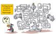 Obrazy na płótnie, fototapety, zdjęcia, fotoobrazy drukowane : Funny Dragon Maze.