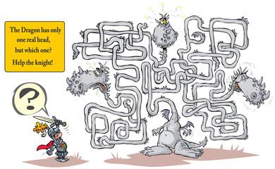 Funny Dragon Maze.