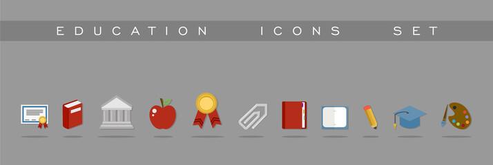 Education icons set design