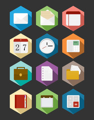 Business flat icons design set