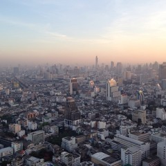 top view from bangkok thailand