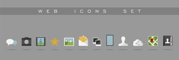 Web icons set design