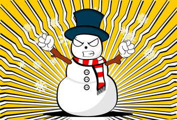 snow man cartoon xmas background card6