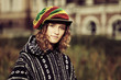 Young fashion hippie woman outdoor