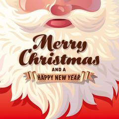 Santa Claus Beard Card