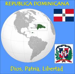 Dominican Republic location emblem motto