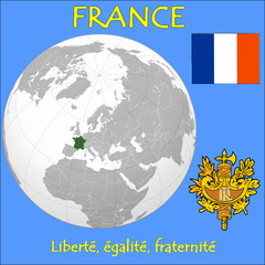 France location emblem motto