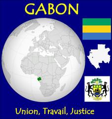 Gabon location emblem motto