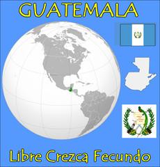 Guatemala location emblem motto