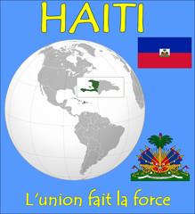Haiti location emblem motto
