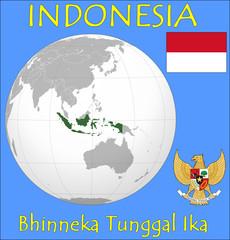 Indonesia location emblem motto