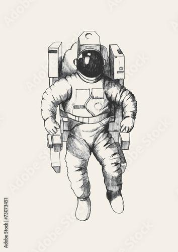 Fototapeta Sketch illustration of an astronaut
