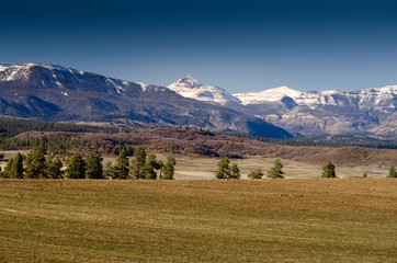 Pagosa mountain range, colorado