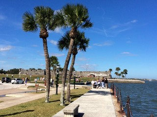 sunny day in st. Augustine