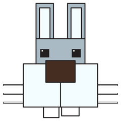 vector art cartoon rabbit