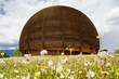 Leinwanddruck Bild - CERN building in Geneva, Switzerland