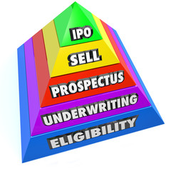 IPO Pyramid Steps Process Procedure Initial Public Offering