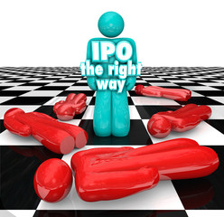 IPO the Right Way Entrepreneur Standing Successful Initial Publi