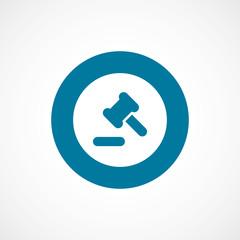 court law bold blue border circle icon.