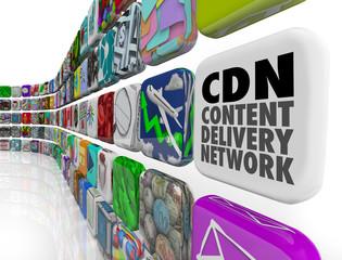 CDN Content Delivery Network App Program Software Network Server