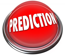 Prediction Red 3d Button Prophesy Fate Destiny Fortune Telling