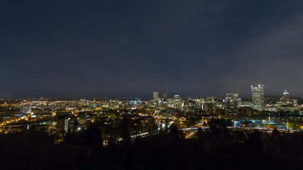 Time Lapse of Traffic with Downtown Portland Cityscape 1920x1080