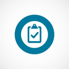 vote bold blue border circle icon.