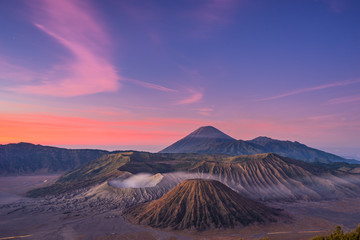 Before sunrise at Bromo mountain