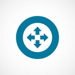move bold blue border circle icon.