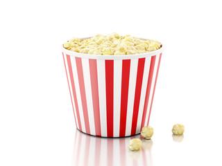 Box of popcorn. 3d illustration