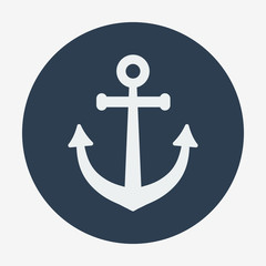 Pirate or sea icon, anchor.