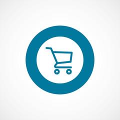 shopping cart bold blue border circle icon.