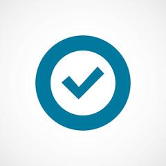 ok bold blue border circle icon.