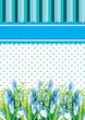 Blue Flower card for invitation event illustration