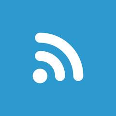 WiFi icon, white on the blue background .